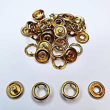 Кнопка трикотажна 9.5 мм. Кнопка бебі, baby, нержавіюча колір Золото (20шт)