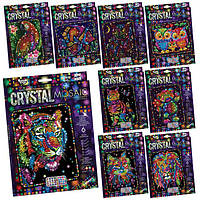 """Набір креативної творчості """"CRYSTAL MOSAIC"""" (20), CRM-01-01,02,03,04...10 ДАНКО ТОЙС"""