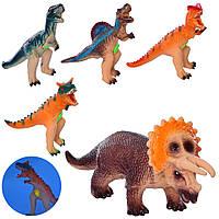 Фігурка Q1-Q2-Q3-Q4-Q5 динозавр, 5 видів, муз., світло, бат.-таб., 30-33 див.
