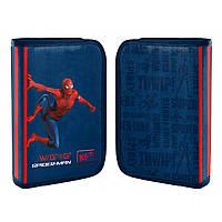 """Пенал твердий YES одинарний з клапаном HP-03 """"Marvel.Spider-Man"""", синій"""