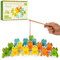 Дерев'яна яна іграшка Риболовля MD 2034 на магніті, фігурки, вудка, кор., 28-18,5-4 див.