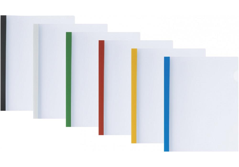 Папка А4 Economix с планкой-зажимом 15 мм (2-95аркушив), ассорти
