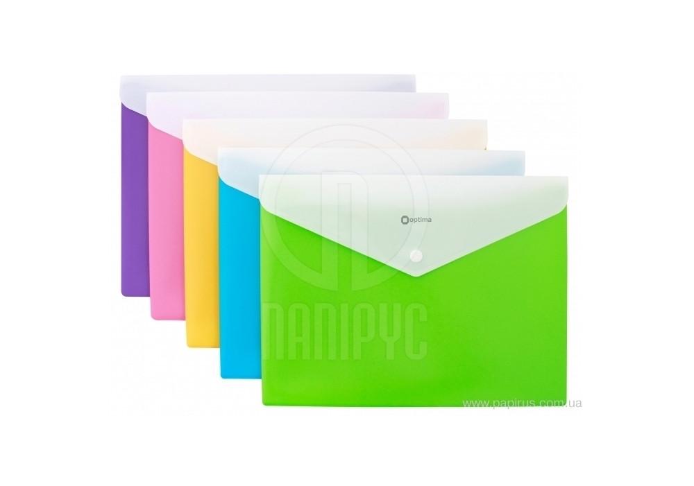 """Папка-конверт А4 """"Вишиванка"""" на кнопке, на 2 отделения, ассорти O35206-99"""