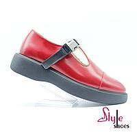 Красные женские туфли Dolly на танкетке ЭВА