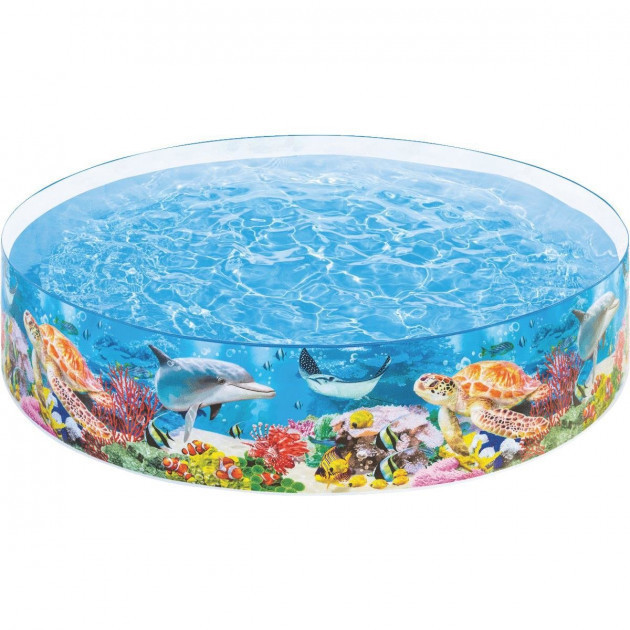 Бассейн каркасный детский Intex 58472 244 х 46 см Коралловый риф (58472_int)