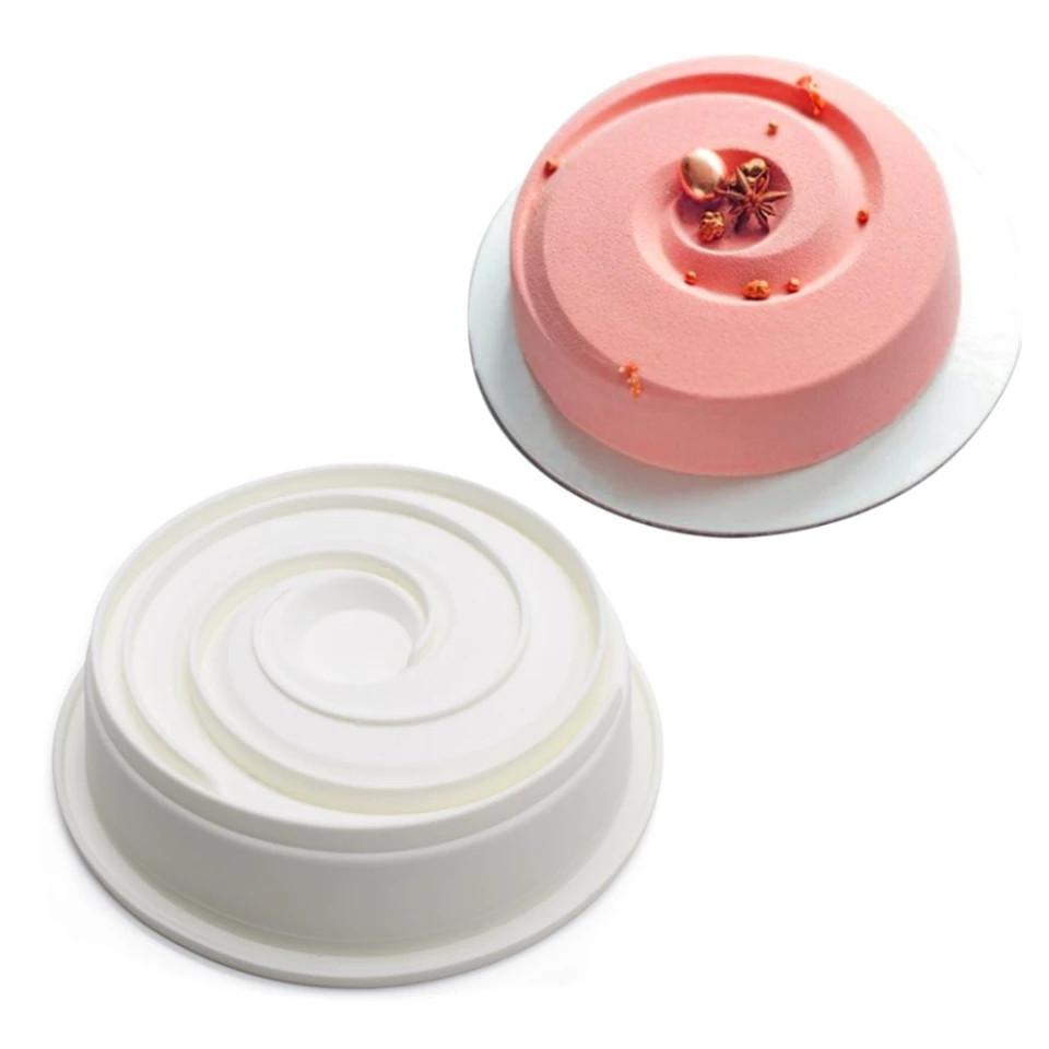 Форма силиконовая для евродесертов Спираль 20 см