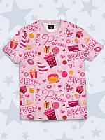 Креативная футболка Сладкая принцесса