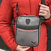Мужская барсетка Puma Ferrari серая (Пума Ферари) сумка через плечо