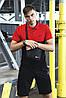 Футболка Поло чорна-червона + Шорти + Барсетка в стилі Nike (Найк) Костюм літній