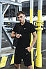 Футболка Поло чорна + Шорти + ПОДАРУНОК Барсетка в стилі Nike (Найк) Костюм літній