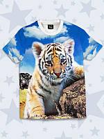 Детская футболка с изображением милого тигрёнка