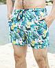 """Шорты Купальные мужские Intruder """"Breeze"""" c принтом 'SpongeBob' спанч боб пляжные бирюзовые зеленые летние"""