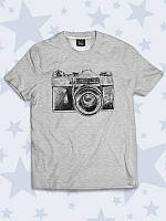 Оригинальная футболка Фотоаппарат арт, фото 1