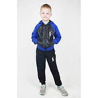 Черный спортивный костюм для мальчика с кофтой плащевкой р. 92-122