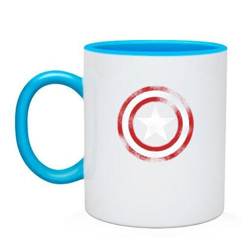 "Чашка со щитом ""Капитан Америка"""
