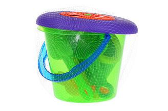 Набор для игры с песком Same Toy с Летающей тарелкой зеленое ведро HY-1205WUt-2 ES, КОД: 2433499
