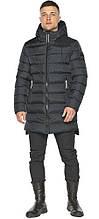 Чоловіча зимова куртка з капюшоном графітова модель 49008