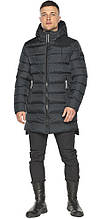 Мужская зимняя куртка с капюшоном графитовая модель 49008
