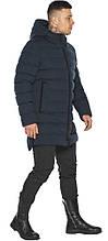Чоловіча зимова графітова куртка зі вшитим капюшоном модель 49022