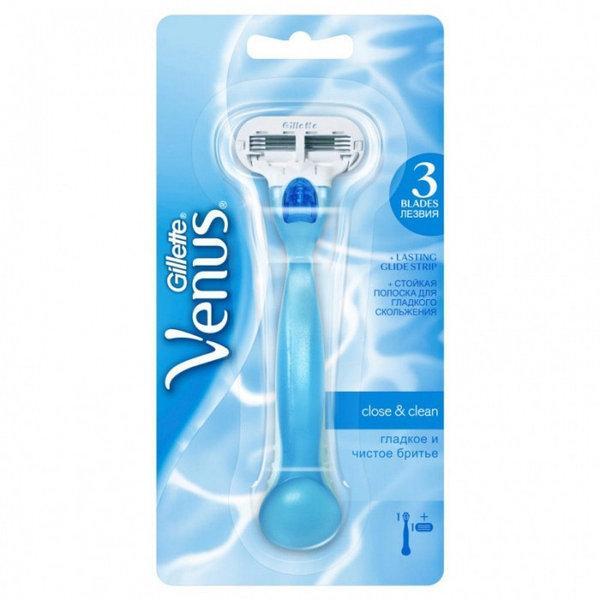 Жіночий станок для гоління gilette Venus 3 леза