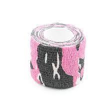Бінт бандажний еластичний 4,5 см на 5м, камуфляж рожевий