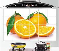 Термостойкие наклейки над плитой 75*45см. Апельсин