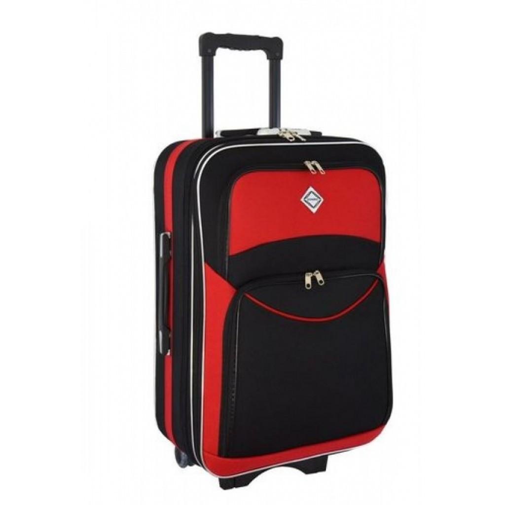 Валіза Bonro Style (великий) чорно-червоний