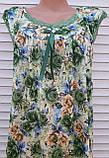 Річна нічна сорочка на бретельках Бамбукова нічна сорочка Нічна сорочка з натуральної тканини зелена 4XL, фото 8