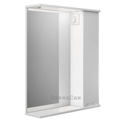 Дзеркало у ванну кімнату 55 см з прямими фасадами Респект Prime Prmc-55R