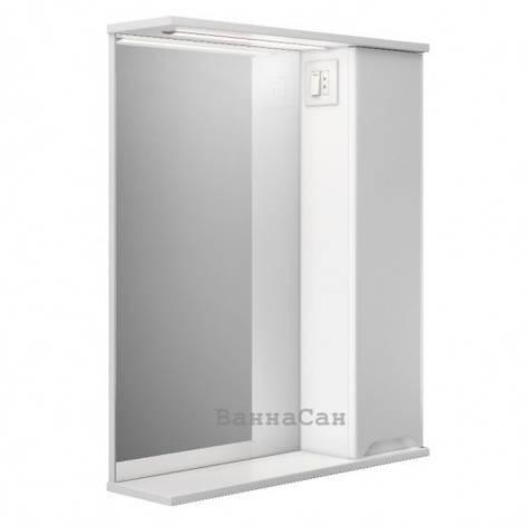Дзеркало у ванну кімнату 55 см з прямими фасадами Респект Prime Prmc-55R, фото 2