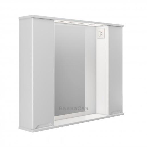 Зеркало в ванную комнату 100 см Респект Prime Prmc-100