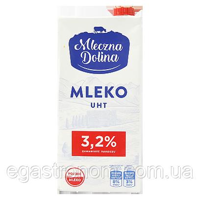 Молоко Молочна долина 3.2% Mleczna Dolina 1L 12шт/ящ (Код : 00-00006186)