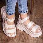 Жіночі сандалі Fashion Alexia 3100 36 розмір 23 см Бежевий 38, фото 2