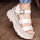 Жіночі сандалі Fashion Alexia 3100 36 розмір 23 см Бежевий 38, фото 3