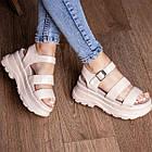 Жіночі сандалі Fashion Alexia 3100 36 розмір 23 см Бежевий 38, фото 4