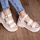 Жіночі сандалі Fashion Alexia 3100 36 розмір 23 см Бежевий 38, фото 6