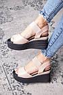 Жіночі сандалі Fashion Batista 3082 36 розмір 23 см Бежевий, фото 2