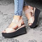Жіночі сандалі Fashion Batista 3082 36 розмір 23 см Бежевий, фото 5