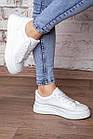 Кеди жіночі Fashion Adele 3074 36 розмір 23 см Білий, фото 4