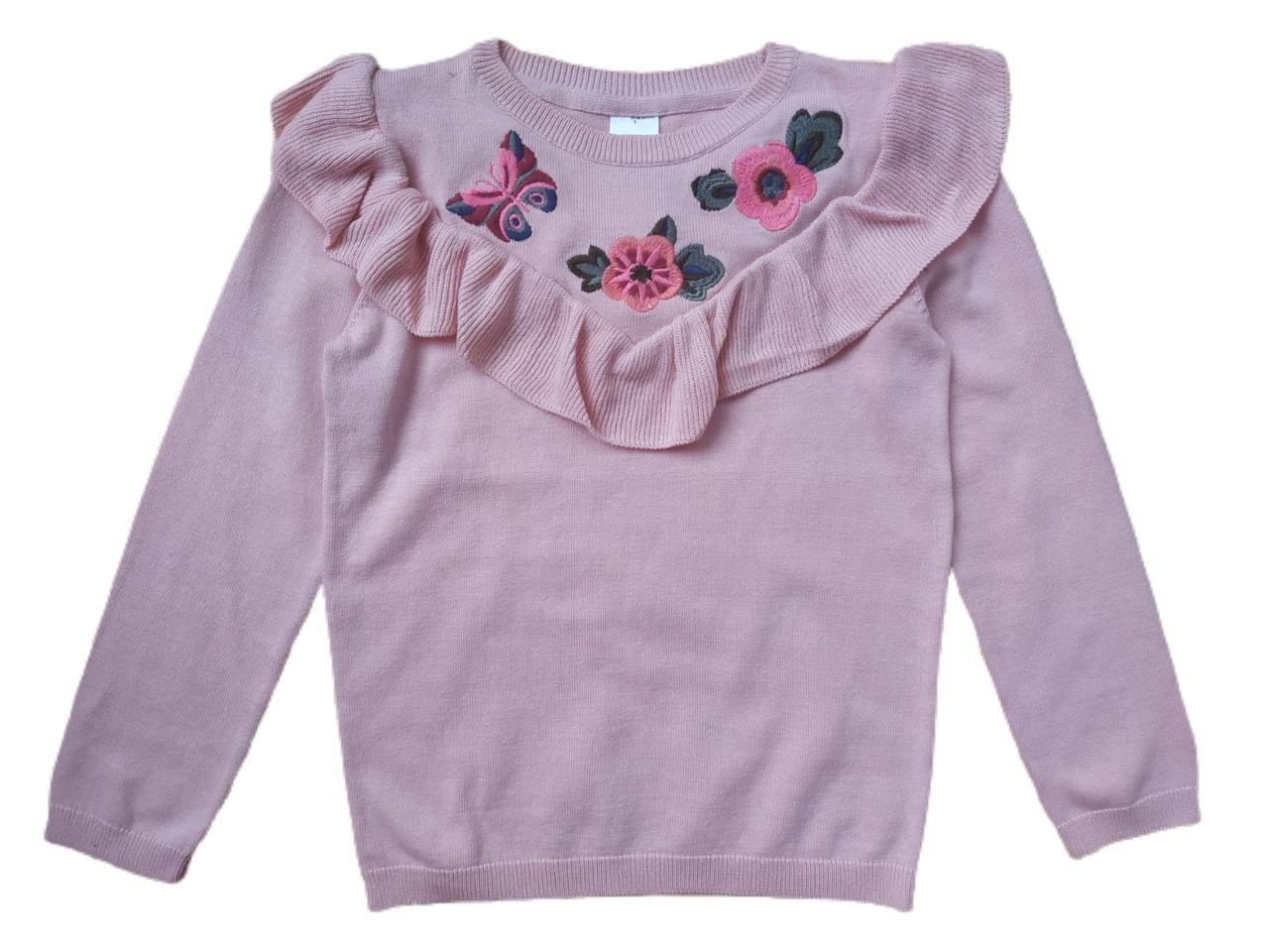 Свитер с вышивкой для девочки 6-7 лет C&A Германия Размер 122