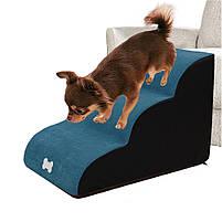 Драбинка для собак Premium , драбинки і сходинки для собак, м'які сходинки для собак, сходи, драбини, фото 2