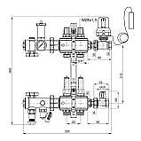 """Колекторна група Icma 1"""" 3 виходи, з витратоміром №A3K013, фото 2"""