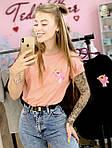 Жіноча футболка бавовна рожева з принтом Pink panther рожева пантера SKL59-259668, фото 4