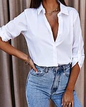 Жіноча сорочка біла SKL11-284084