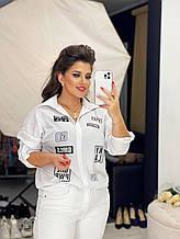 Сорочка з довгим рукавом софт біла SKL11-289850