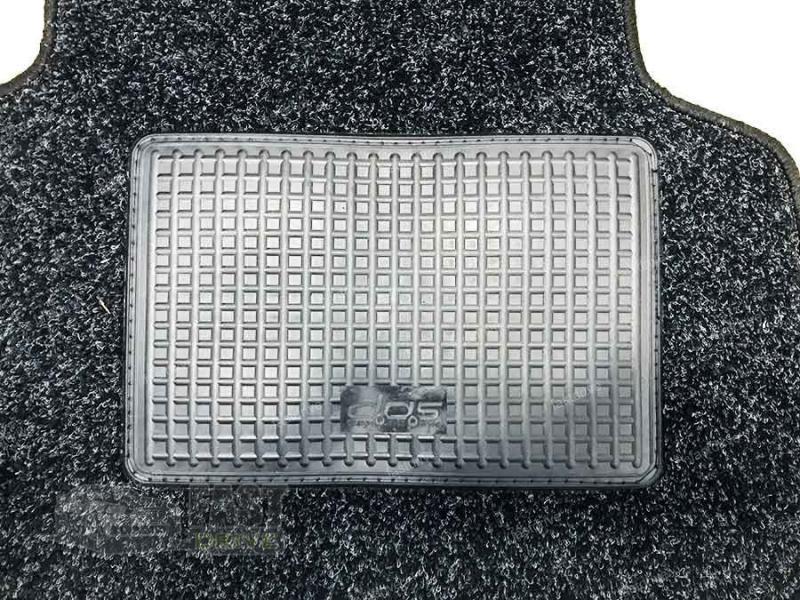 """Килимки текстильні Chevrolet AVEO до 2011 Чорні+ Перемичка """"Gran""""(основа гранули)"""