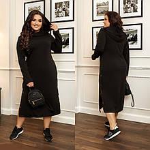 Женское платье черное батал SKL11-290368