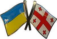Значок флаг Украины и Грузии