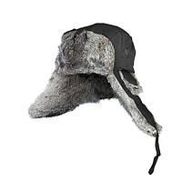 Шапка-ушанка на нат. меху (чёрная) XL