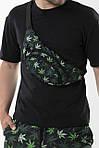 Костюм летний панама гербарий/камуфляж двусторонняя, бананка черная листики и шорты Breeze SKL59-297298, фото 4